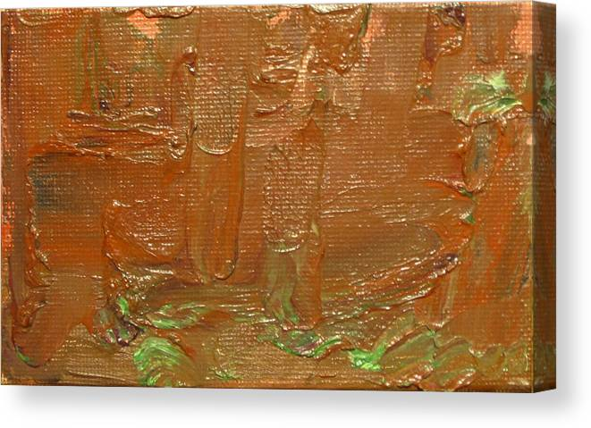 Abstract Canvas Print featuring the painting Oxide I by Jeffrey Oleniacz