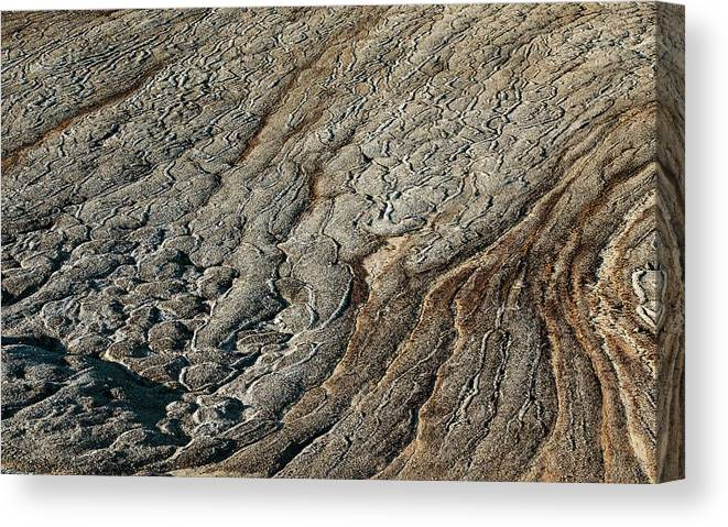 Freeze Thaw Canvas Print featuring the photograph Rock Polygon Stripes by Peter J. Raymond