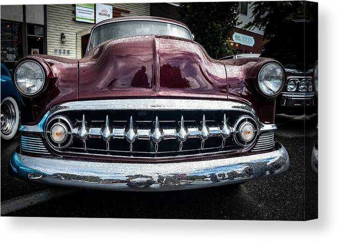 1953 Chevrolet Canvas Print featuring the photograph Smile Wide by Ronda Broatch