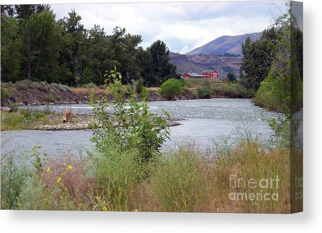 Naches River Canvas Print featuring the photograph The Naches River by Charles Robinson