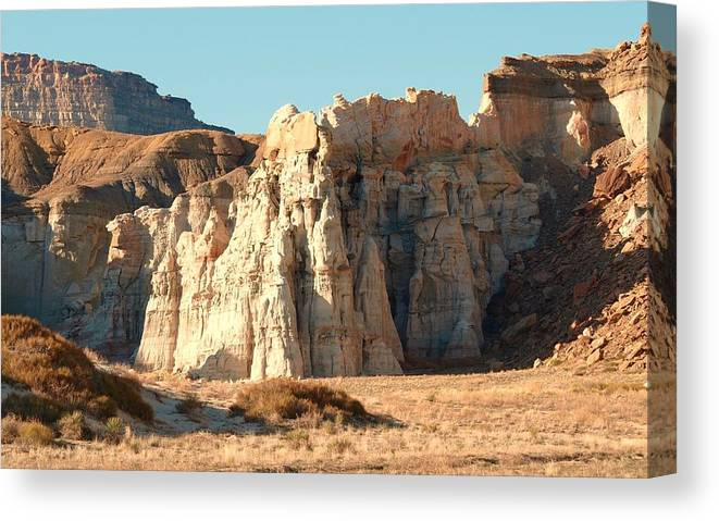 Landscape Canvas Print featuring the photograph White Castle Canyon by Martin Micale
