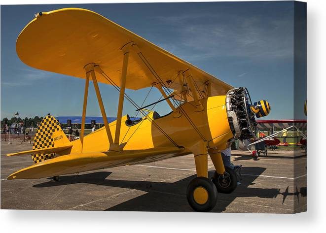 Stearman Canvas Print featuring the photograph Yellow by Philip Rispin