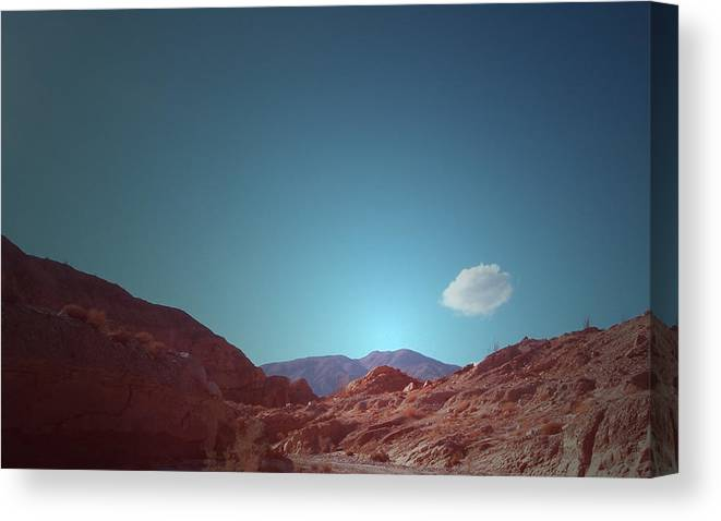 Canvas Print featuring the photograph Lonely Cloud by Naxart Studio
