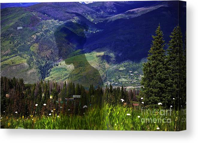 Landscape Canvas Print featuring the photograph Nature's Child by Madeline Ellis