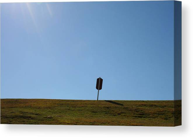 Hot Canvas Print featuring the photograph Sign Post by Eric Gordon