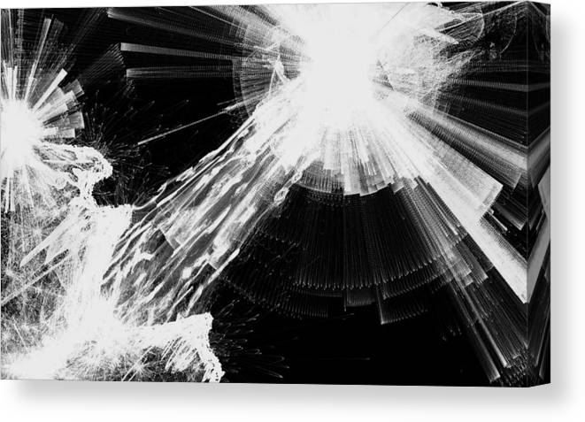 Black And White Canvas Print featuring the digital art Yesterday - Black And White by Dennis Welch