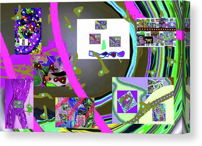 Walter Paul Bebirian Canvas Print featuring the digital art 9-21-2015cabcdef by Walter Paul Bebirian