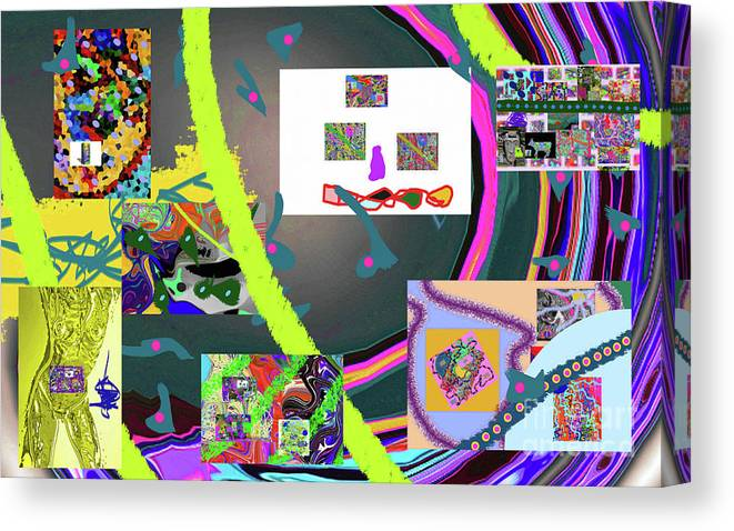 Walter Paul Bebirian Canvas Print featuring the digital art 9-21-2015cabcdefghijklmnopqrtuvwxyzabcd by Walter Paul Bebirian