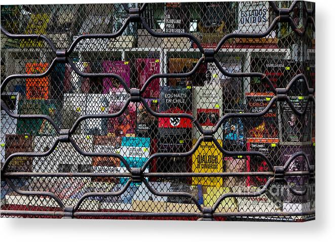 Prison Canvas Print featuring the photograph Books In Prison by Kenneth Lempert