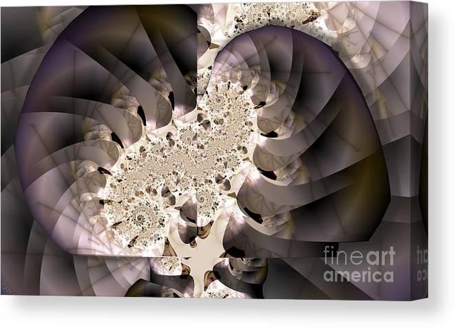 Brain Stem Canvas Print featuring the digital art Brain Stem by Ron Bissett