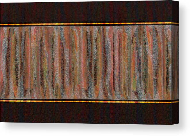 Digital Canvas Print featuring the painting Digital Expression Iv-xxiii-xi by George Facelo