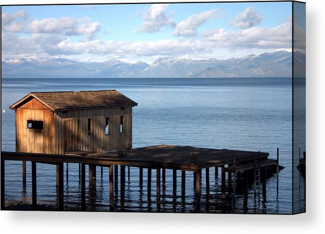 Dock Canvas Print featuring the photograph Dock Of Dreams South Lake Tahoe Ca by Brad Scott