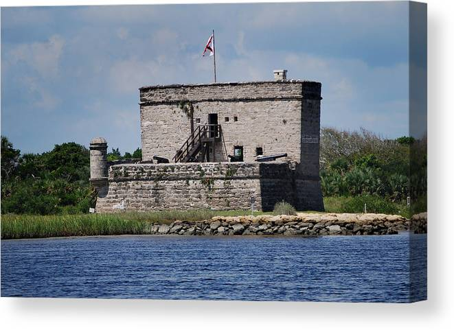 Fort Matanzas Canvas Print featuring the photograph Fort Matanzas by Skip Willits