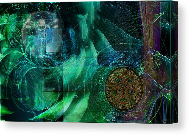 Digital Abstract Art Canvas Print featuring the digital art inPhinity by Kenneth Armand Johnson