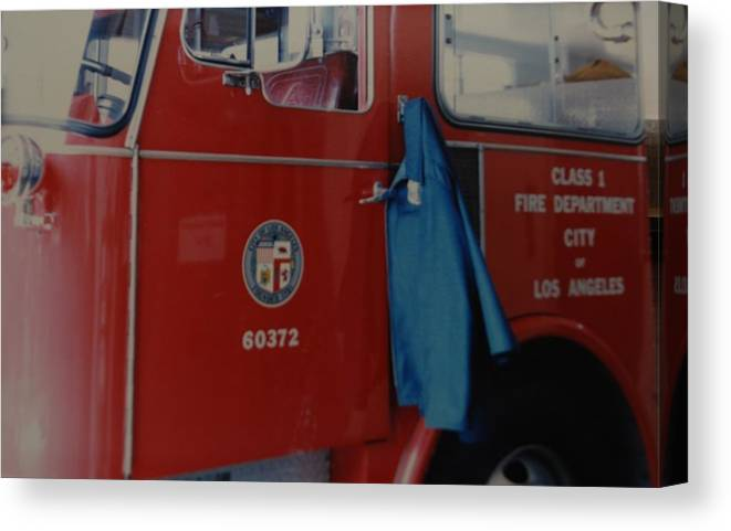 Los Angeles Fire Department Canvas Print featuring the photograph Los Angeles Fire Department by Rob Hans