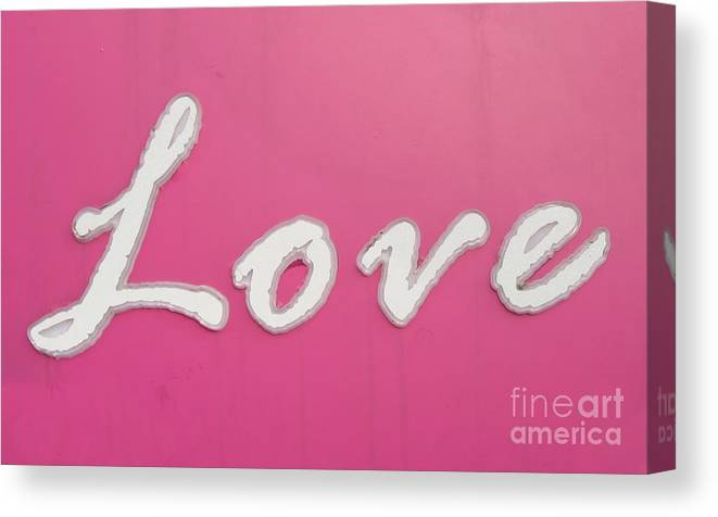 Sign Canvas Print featuring the photograph Love Sign by Yali Shi