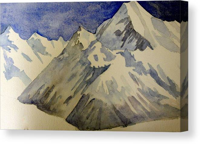 Mountains Canvas Print featuring the painting Mountains by Steven Holder