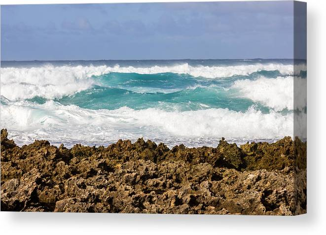 Hawaii Canvas Print featuring the photograph Rugged Shores by Penny Meyers