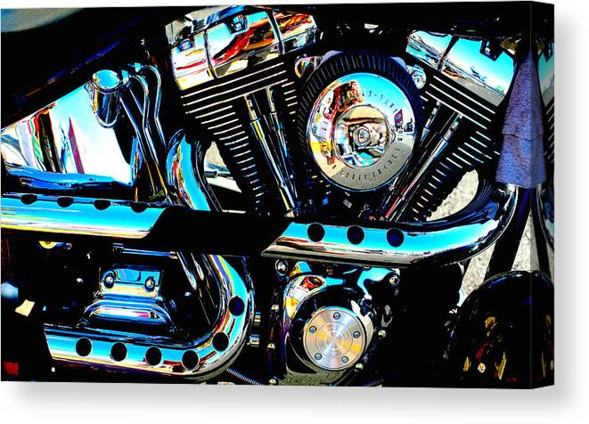 Chrome Canvas Print featuring the photograph Saturated Chrome by Tammy Hankins