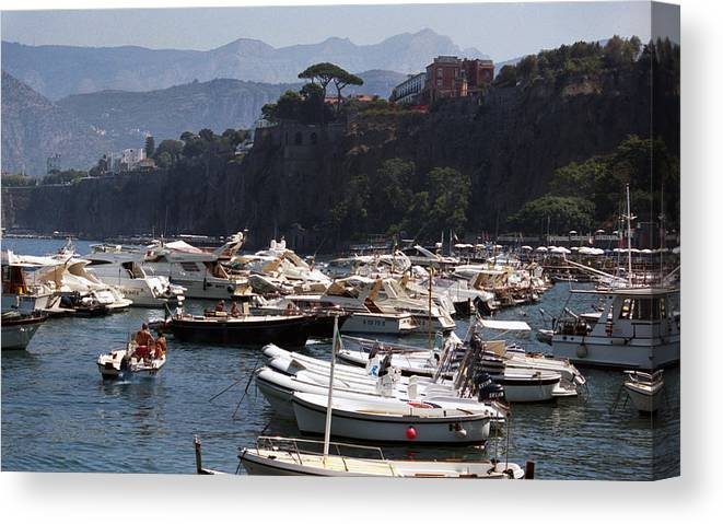 Serrento Canvas Print featuring the photograph Serrento Harbour by Terence Davis