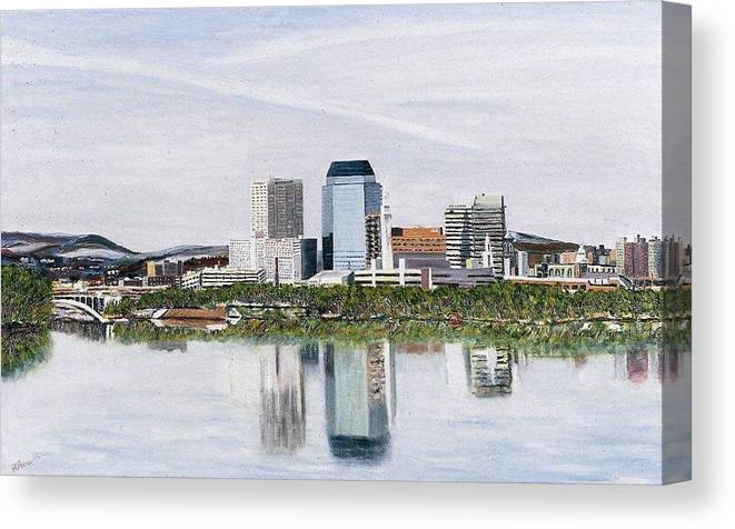 Reflections Canvas Print featuring the painting Springfield Reflections by Richard Nowak