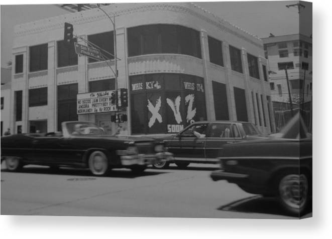 Black And White Canvas Print featuring the photograph The Whiskey In Black And White by Rob Hans