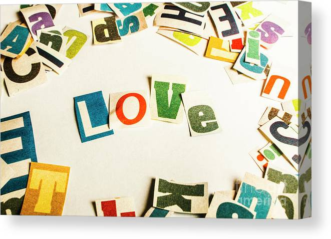 Romantic Canvas Print featuring the photograph Word Of Love by Jorgo Photography - Wall Art Gallery