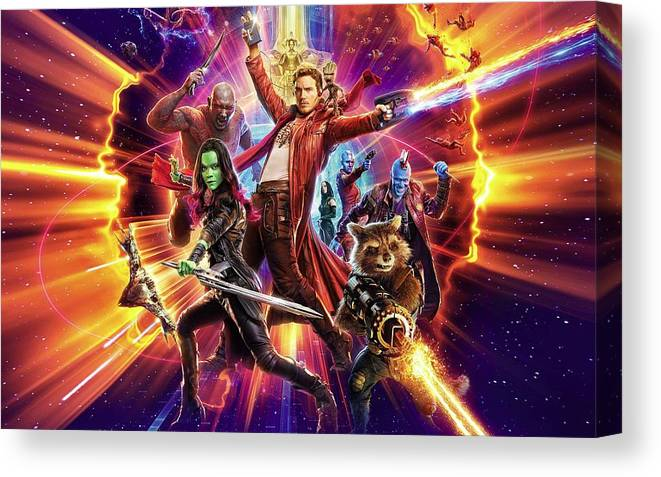 Guardians Of The Galaxy Canvas Print featuring the digital art Guardians Of The Galaxy by Geek N Rock