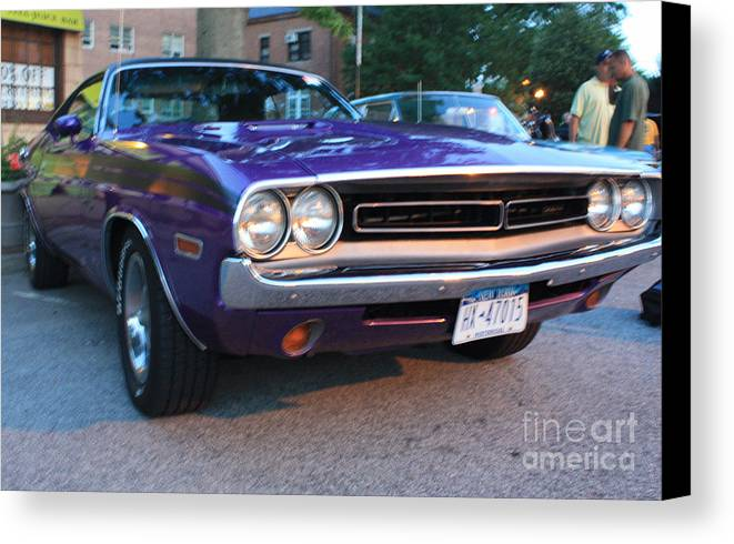 1971 Challenger Front And Side View Canvas Print featuring the photograph 1971 Challenger Front And Side View by John Telfer