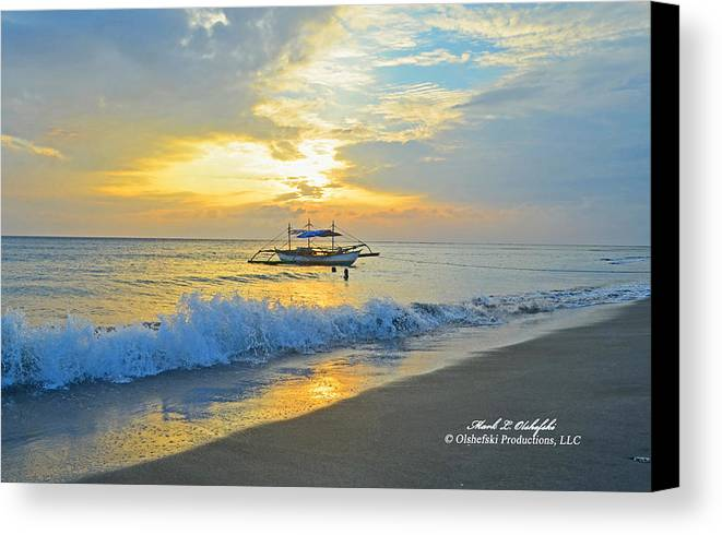 Canvas Canvas Print featuring the photograph 2013 12 26 02 A Sunset by Mark Olshefski