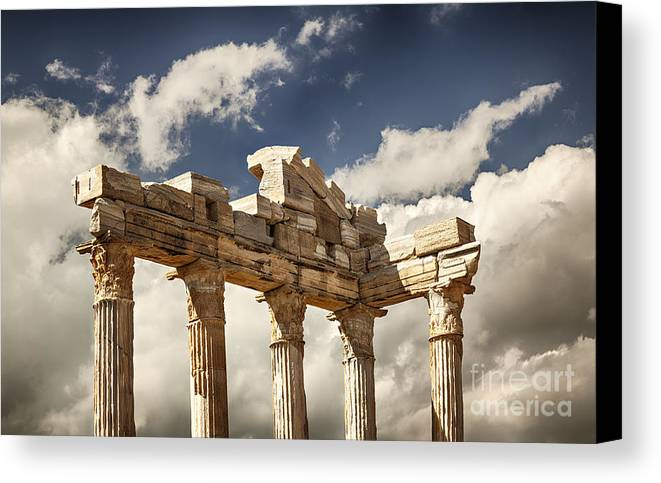 Old Canvas Print featuring the photograph Temple Of Apollo by Sophie McAulay