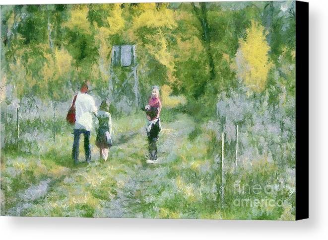 Art Canvas Print featuring the painting A Trip To The Woods by Odon Czintos