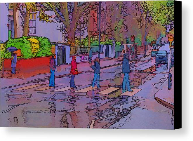 Abbey Road Album Canvas Print featuring the photograph Abbey Road Crossing by Chris Thaxter