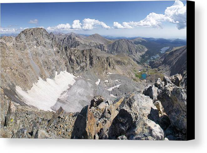 Arapaho Canvas Print featuring the photograph Arapaho Glacier by Aaron Spong