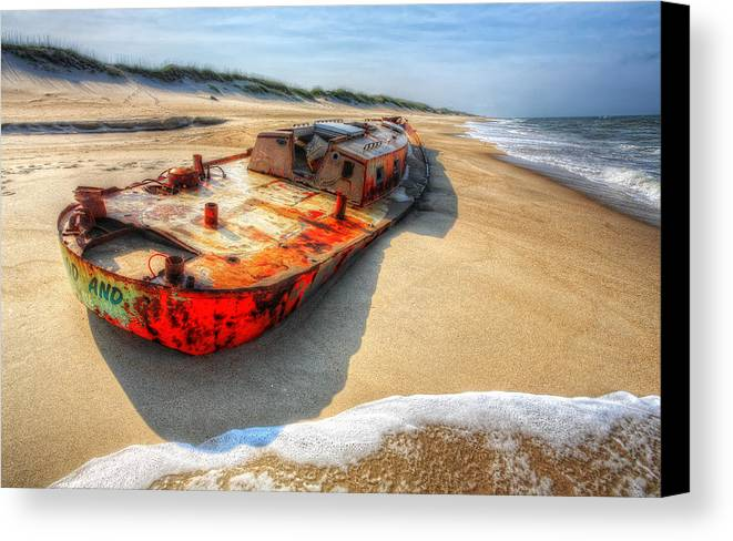 Outer Banks Canvas Print featuring the photograph Blood And Guts I - Outer Banks by Dan Carmichael
