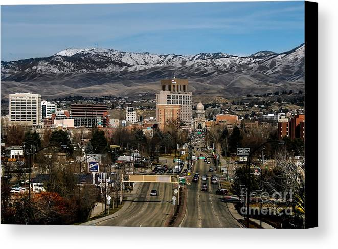 City Canvas Print featuring the photograph Boise Idaho by Robert Bales