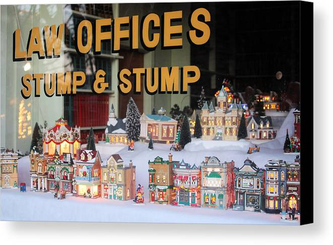 Village Canvas Print featuring the photograph Christmas Window by Valerie Loop