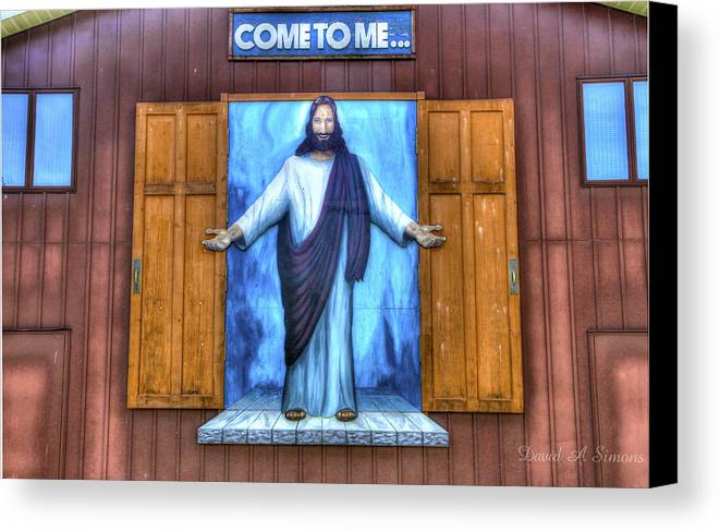 Jesus Canvas Print featuring the photograph Come To Me by David Simons