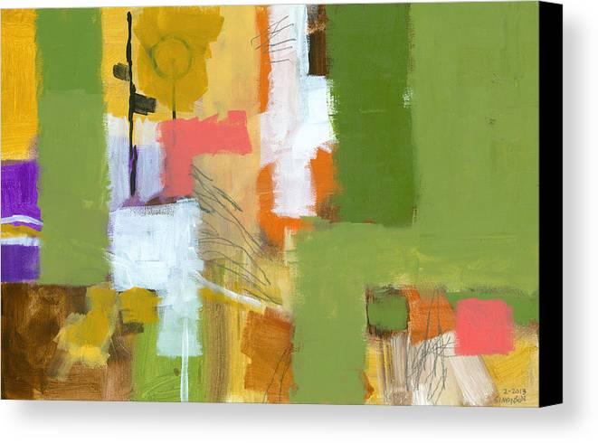 Abstract Canvas Print featuring the painting Dakota Street 5 by Douglas Simonson