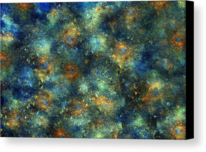 Star Canvas Print featuring the digital art Galaxies by Betsy Knapp