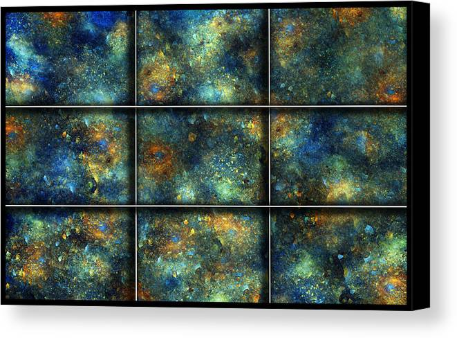 Star Canvas Print featuring the digital art Galaxies II by Betsy Knapp