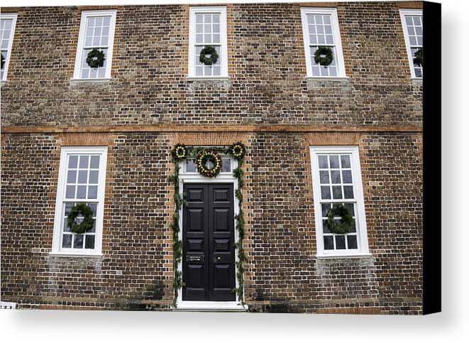 2013 Canvas Print featuring the photograph George Wythe House Williamsburg by Teresa Mucha