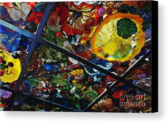 Glass Canvas Print featuring the photograph Glass Ceiling Abstract by Valerie Garner