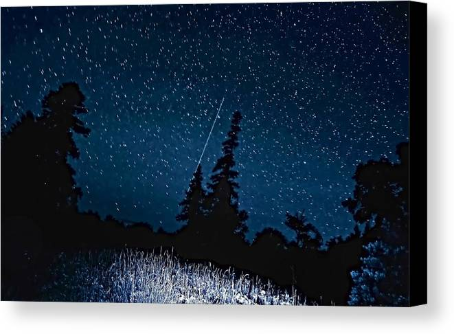 Galaxy Canvas Print featuring the photograph Into The Night by Steve Harrington
