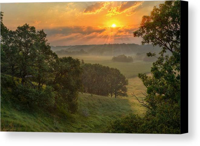 Summer Landscapes Canvas Print featuring the photograph July Morning Along The Ridge by Bruce Morrison