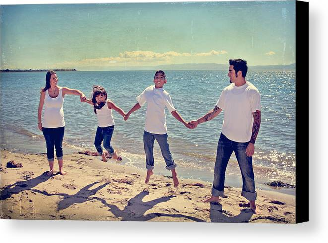 Alameda Beach Canvas Print featuring the photograph Jump For Joy by Laurie Search
