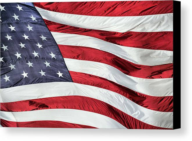 Land Of The Free And Home Of The Brave Canvas Print featuring the photograph Land Of The Free by JC Findley