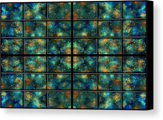 Star Canvas Print featuring the digital art Limitless Night Sky by Betsy Knapp