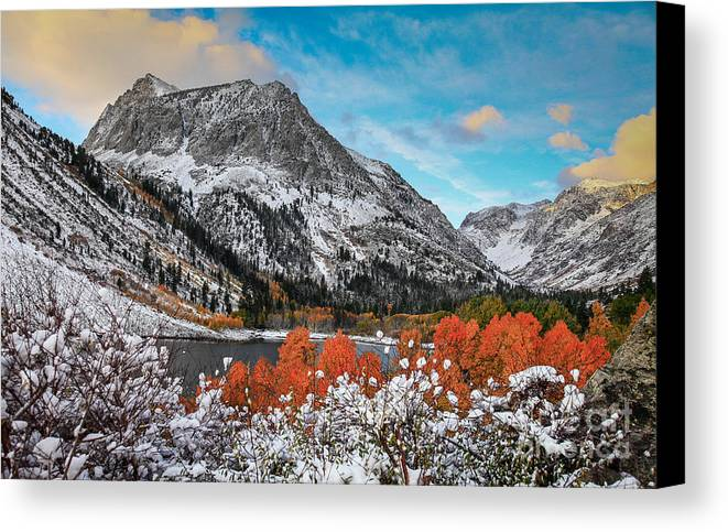 Lundy Lake Canvas Print featuring the photograph Lundy Lake Sunrise by Webb Canepa