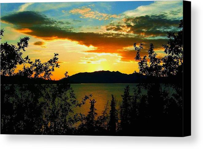 North America Canvas Print featuring the photograph Marsh Lake - Yukon by Juergen Weiss